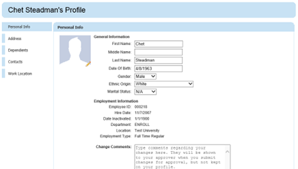 Employee Services Screenshot