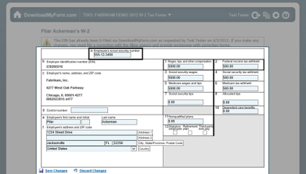 Year-End Forms Screenshot